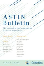 ASTIN Bulletin: The Journal of the IAA Volume 46 - Issue 2 -