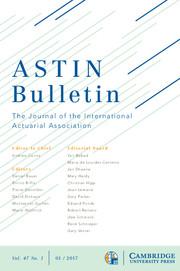 ASTIN Bulletin: The Journal of the IAA Volume 47 - Issue 1 -