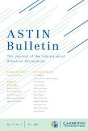 ASTIN Bulletin: The Journal of the IAA Volume 47 - Issue 2 -
