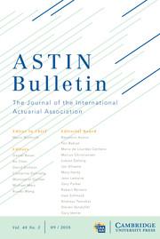 ASTIN Bulletin: The Journal of the IAA Volume 48 - Issue 3 -