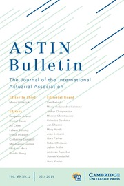 ASTIN Bulletin: The Journal of the IAA Volume 49 - Issue 2 -