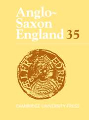 Anglo-Saxon England Volume 35 - Issue  -