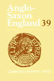 Anglo-Saxon England Volume 39 - Issue  -