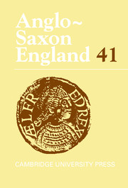 Anglo-Saxon England Volume 41 - Issue  -