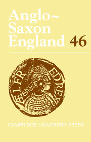 Anglo-Saxon England Volume 46 - Issue  -