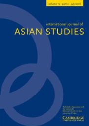 International Journal of Asian Studies Volume 13 - Issue 2 -