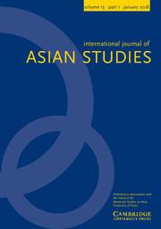 International Journal of Asian Studies Volume 15 - Issue 1 -