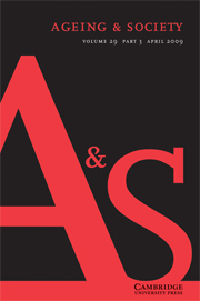Ageing & Society Volume 29 - Issue 3 -