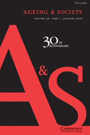 Ageing & Society Volume 30 - Issue 1 -