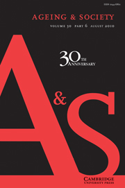 Ageing & Society Volume 30 - Issue 6 -