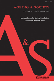 Ageing & Society Volume 31 - Issue 3 -  Methodologies for Ageing Populations