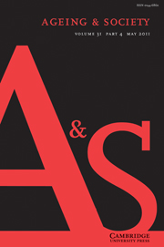 Ageing & Society Volume 31 - Issue 4 -