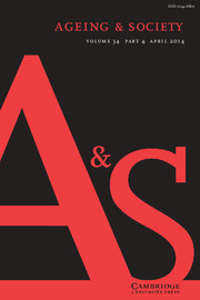 Ageing & Society Volume 34 - Issue 4 -