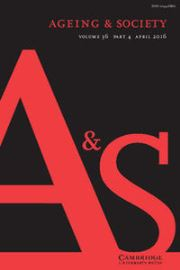 Ageing & Society Volume 36 - Issue 4 -