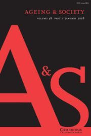 Ageing & Society Volume 38 - Issue 1 -
