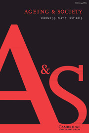 Ageing & Society Volume 39 - Issue 7 -