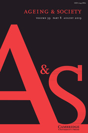 Ageing & Society Volume 39 - Issue 8 -