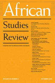African Studies Review Volume 59 - Issue 3 -
