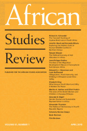 African Studies Review Volume 61 - Issue 1 -