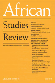 African Studies Review Volume 62 - Issue 2 -