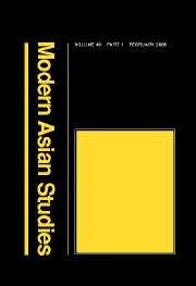 Modern Asian Studies Volume 40 - Issue 1 -