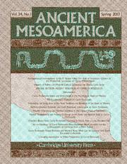 Ancient Mesoamerica Volume 24 - Issue 1 -