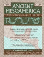 Ancient Mesoamerica Volume 26 - Issue 1 -