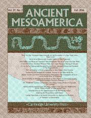 Ancient Mesoamerica Volume 27 - Issue 2 -