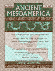 Ancient Mesoamerica Volume 28 - Issue 2 -