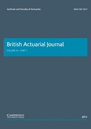 British Actuarial Journal Volume 16 - Issue 1 -