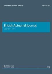 British Actuarial Journal Volume 17 - Issue 1 -