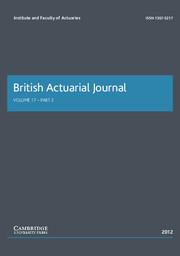 British Actuarial Journal Volume 17 - Issue 2 -