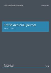 British Actuarial Journal Volume 17 - Issue 3 -