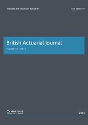 British Actuarial Journal Volume 18 - Issue 1 -