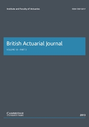 British Actuarial Journal Volume 18 - Issue 3 -