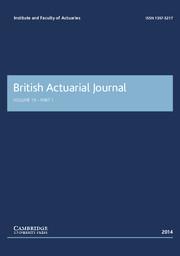 British Actuarial Journal Volume 19 - Issue 1 -