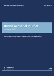 British Actuarial Journal Volume 19 - Issue 3 -