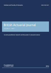 British Actuarial Journal Volume 21 - Issue 1 -