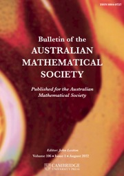 Bulletin of the Australian Mathematical Society