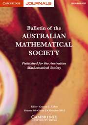 Bulletin of the Australian Mathematical Society Volume 86 - Issue 2 -