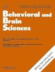 Behavioral and Brain Sciences Volume 30 - Issue 3 -