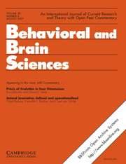 Behavioral and Brain Sciences Volume 30 - Issue 4 -