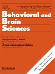 Behavioral and Brain Sciences Volume 31 - Issue 5 -