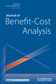 Journal of Benefit-Cost Analysis Volume 9 - Issue 1 -