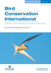 Bird Conservation International Volume 20 - Issue 2 -