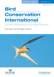 Bird Conservation International Volume 20 - Issue 4 -