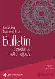 Canadian Mathematical Bulletin Volume 62 - Issue 1 -