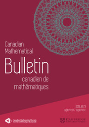 Canadian Mathematical Bulletin Volume 62 - Issue 3 -