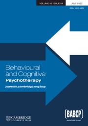 Behavioural and Cognitive Psychotherapy