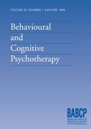 Behavioural and Cognitive Psychotherapy Volume 36 - Issue 1 -